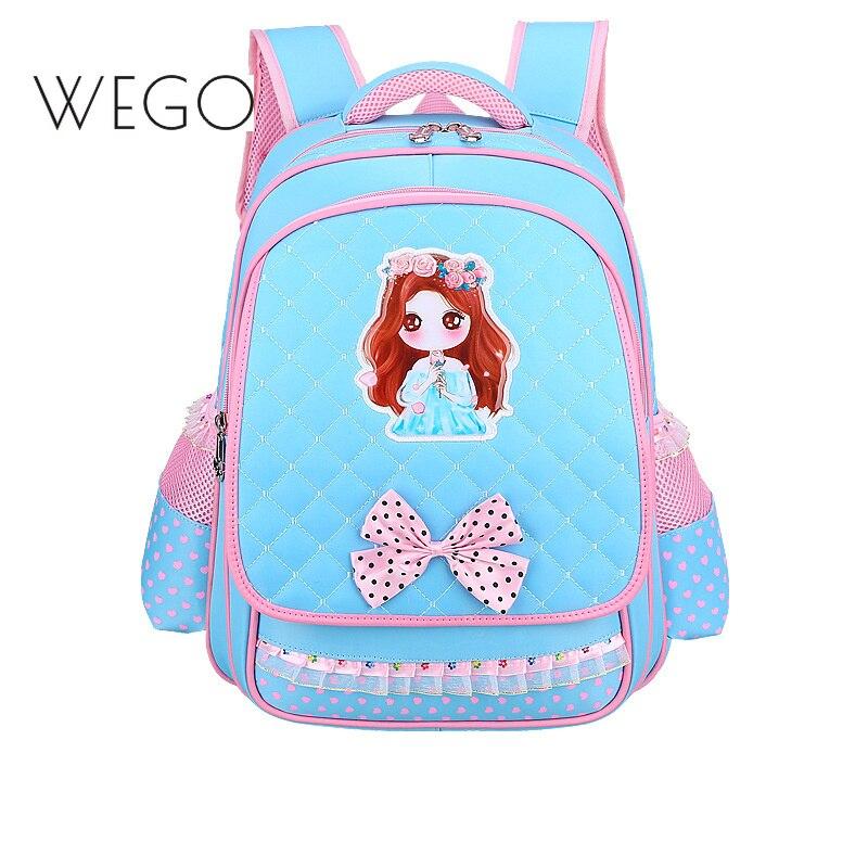 d83f0e6a8ad3 Новая Большая емкость 1-3-6 класс Начальная школьная сумка женская  принцесса Ридж детское