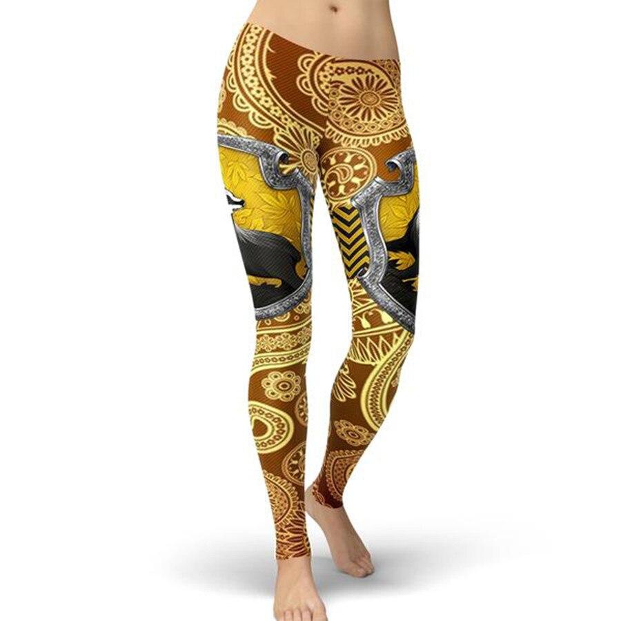 2019 Brand New Gryffindor Hufflepuff Women   leggings   Cartoon Leggins mujer Print   legging   for Woman Fitness pants