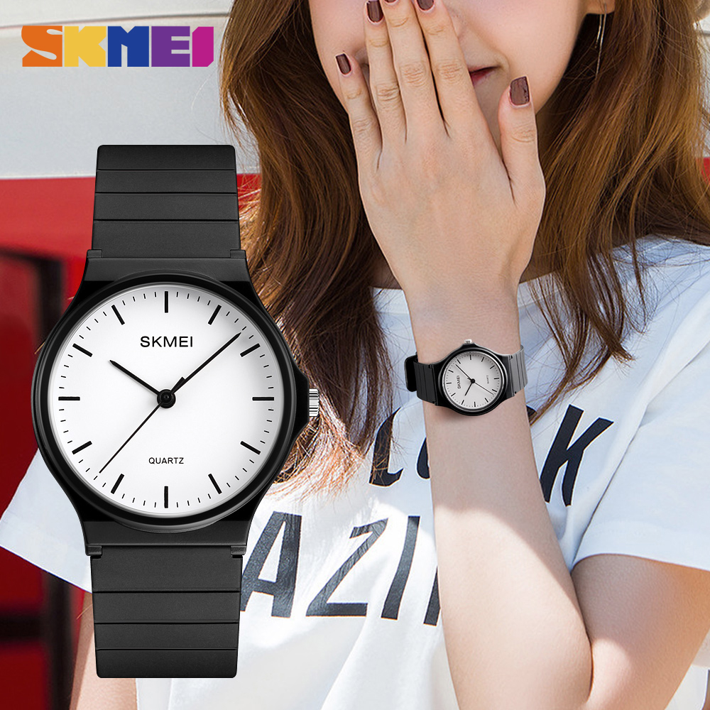 SKMEI Men Women Watches Simple Design Personality Teens 3bar Waterproof Quartz Wristatches Ladies Mes Relogio Feminino 1419