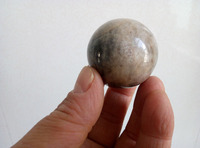 45mm Rare natural Black Sheen Moonstone Quartz Crystal Sphere Ball Madagascar
