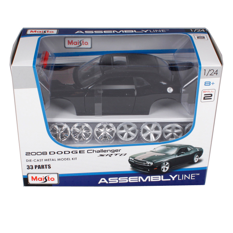 Maisto 1:24 2008 dodge challenger srt8 black assemble car die sets vehicle model diecast mannal toy car model for men 39280 maisto 1 24 2008 dodge challenger srt8 assembly diy diecast model car toy new in box free shipping 39280