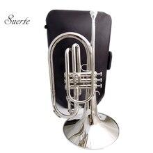 Музыкальные инструменты марширующий меллофон F ключ латунный корпус лак/никель/серебро с Чехол и мундштук
