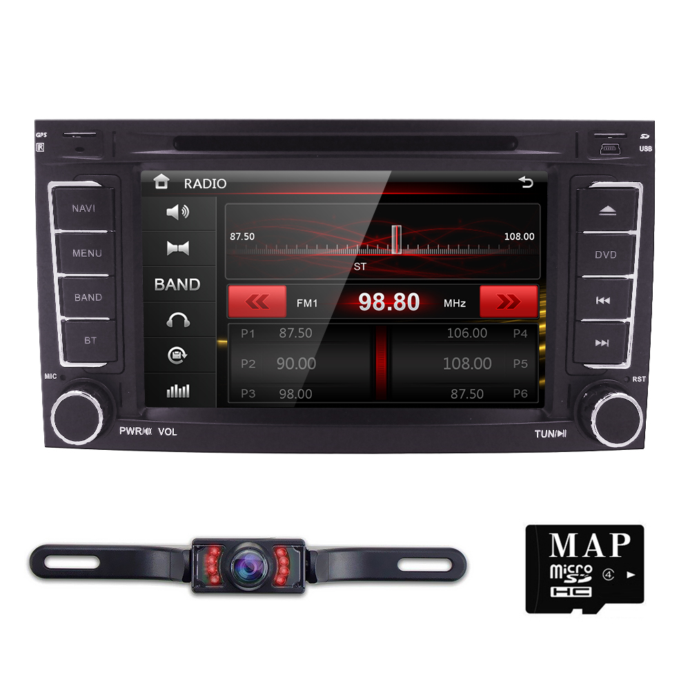 Car Monitor DVD Multimedia Car DVD player For VW TOUAREG T5 Multivan GPS RDS Bluetooth RDS Radio CAM-IN DVBT SWC AM/FM IPOD GAME
