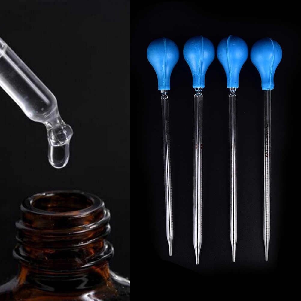 1 pc liquide liquide compte-gouttes échelle caoutchouc tête verre Pipettes compte-gouttes ligne transfert Pipettes aromathérapie outil équipement de laboratoire