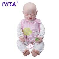 IVITA 56 см 22 дюймов из нержавеющей стали Скелет Reborn силиконовые возрождается куклы реалистичные малыш мальчик Кукла Reborn Boneca