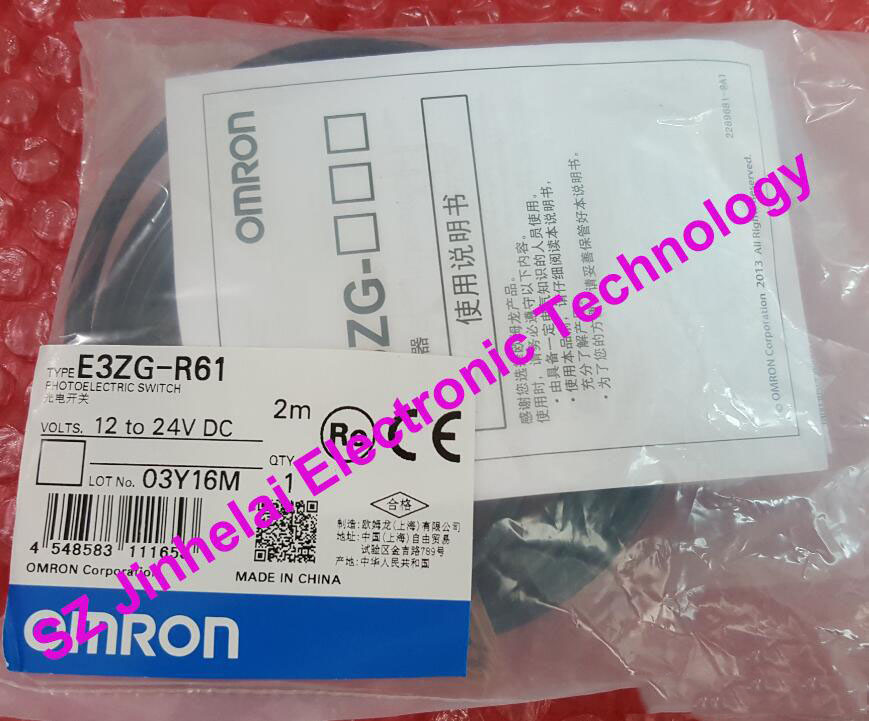 New and original E3ZG-R61  OMRON  Photoelectric switch   Photoelectric sensor    2M   12-24VDC выключатель omron h3yn 2 24vdc