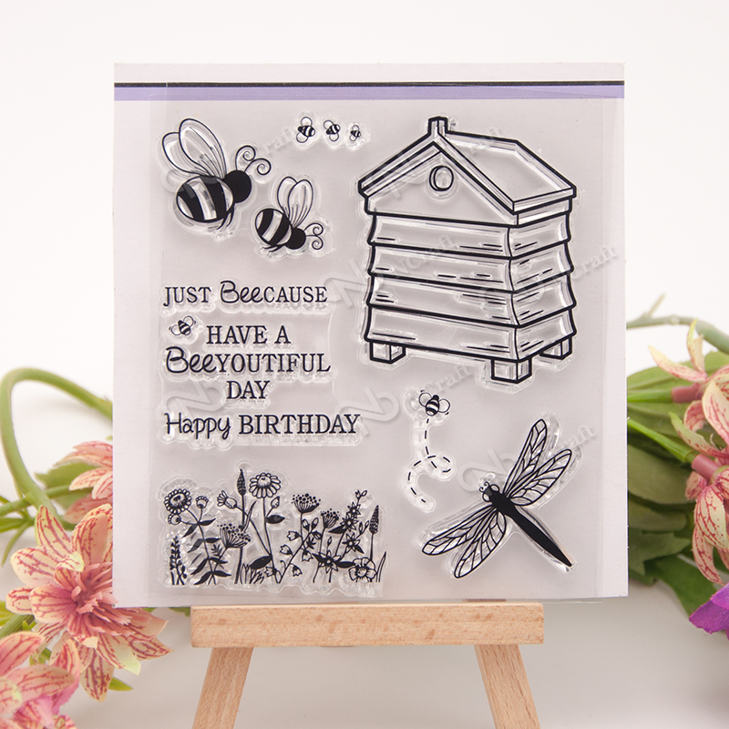 Bee house Transparent Clear Silicone Stamp/Seal for DIY scrapbooking/photo album Decorative clear stamp sheets lovely elements transparent clear silicone stamp seal for diy scrapbooking photo album decorative clear stamp sheets