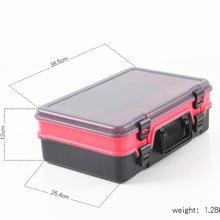 Y068 рыболовные снасти коробки Многофункциональный Водонепроницаемый рыболовные снасти для хранения пластиковая Коробка двойной слой Рыбалка инструмент футляр для хранения