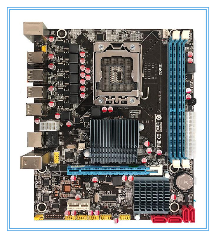 Free shipping 100% OEM New X58 V311 LGA 1366 DDR3/ECC Quad-Core CPU 16GB All-Solid X58 Desktop Motherboard new original motherboard x58 extreme boards lga 1366 ddr3 24gb atx mainboard for x5570 x5650 w5590 x5670 l5520 cpu free shipping