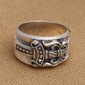 Handmade 925 silver cross sword ring vintage sterling silver man ring silver punk jewelry ring gift