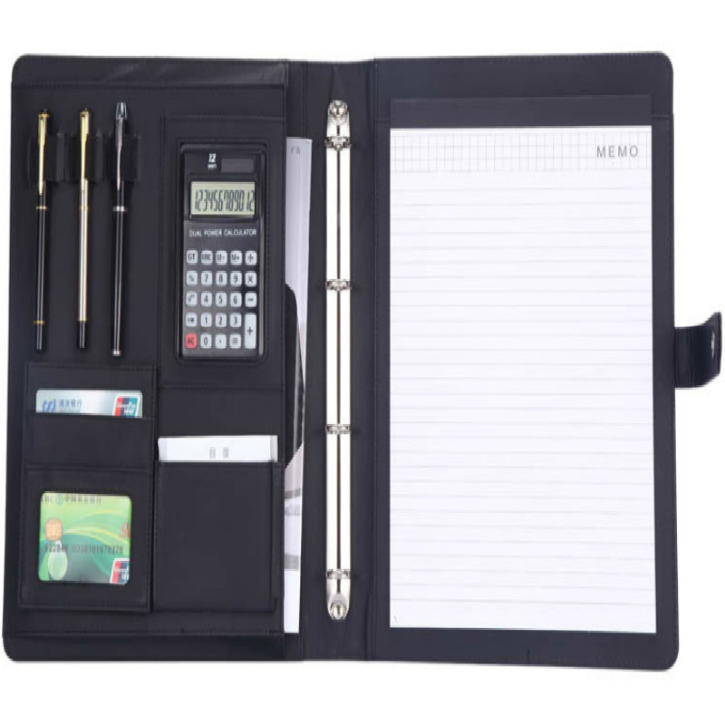 Haute qualité Protection de l'environnement fournitures de bureau à usage général A4 plus fonction fichier entraînement calculatrice gestionnaire Mix