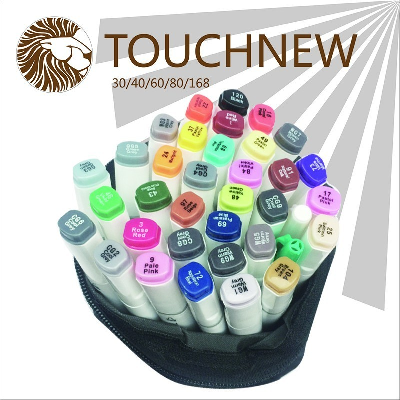TOUCHNEW six generations double mark pen alcohol oily hand-painted suit students 30 48 72 color fine markers manga drawing w110145 soft head fine water mark pen 48 60 color beginners painting professional equipment advanced ink student art suit