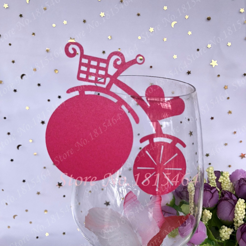 60pcs Personality Bike Laser Name Place Card Cup Paper Card Table ...
