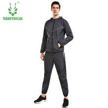 Vansydical, Мужская толстовка, тренировочные костюмы, спортивные комплекты для бега, спортивный костюм для тренировок, куртка, штаны, набор, для похудения, спортивный костюм, костюм для бега