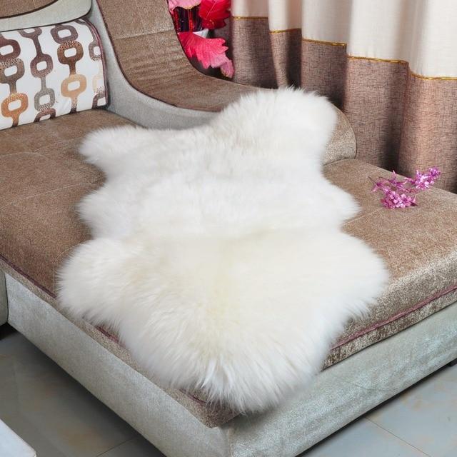 Aliexpress.com: Acheter Blanc Réel Australie Tapis En Peau de ...