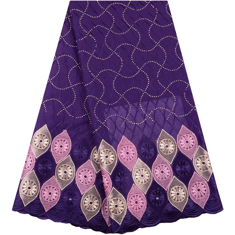 New Swiss Lace Fabric African Dry Cotton Voile Lace With Stones High Quality Swiss Voile Lace