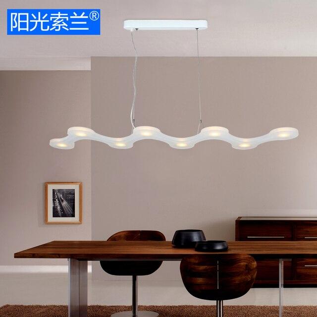 Moderne LED 16 Watt Weiß Acryl Kronleuchter Für Esszimmer Stehtisch  Studyroom Büro Kunst Kronleuchter AC90V