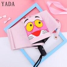 YADA Automatic Cartoon Pink Panther Pattern Folding Umbrella Anti-UV Rainproof Sun Rain Protection Parasol Animal YD068