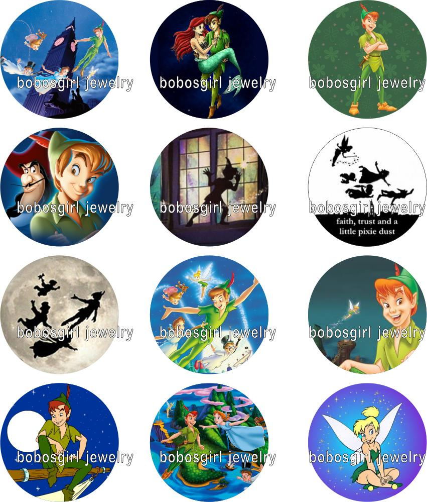Peter Pan galss snap button Jewelry s photo Round cabochon