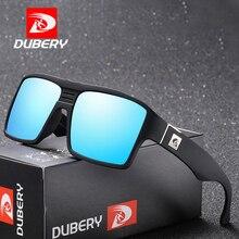 DUBERY Men's Sunglasses Polarized Square Male Driving Goggle Colorful Sun Glasses For Men Fashion UV400 Shades Cool Oculos D729