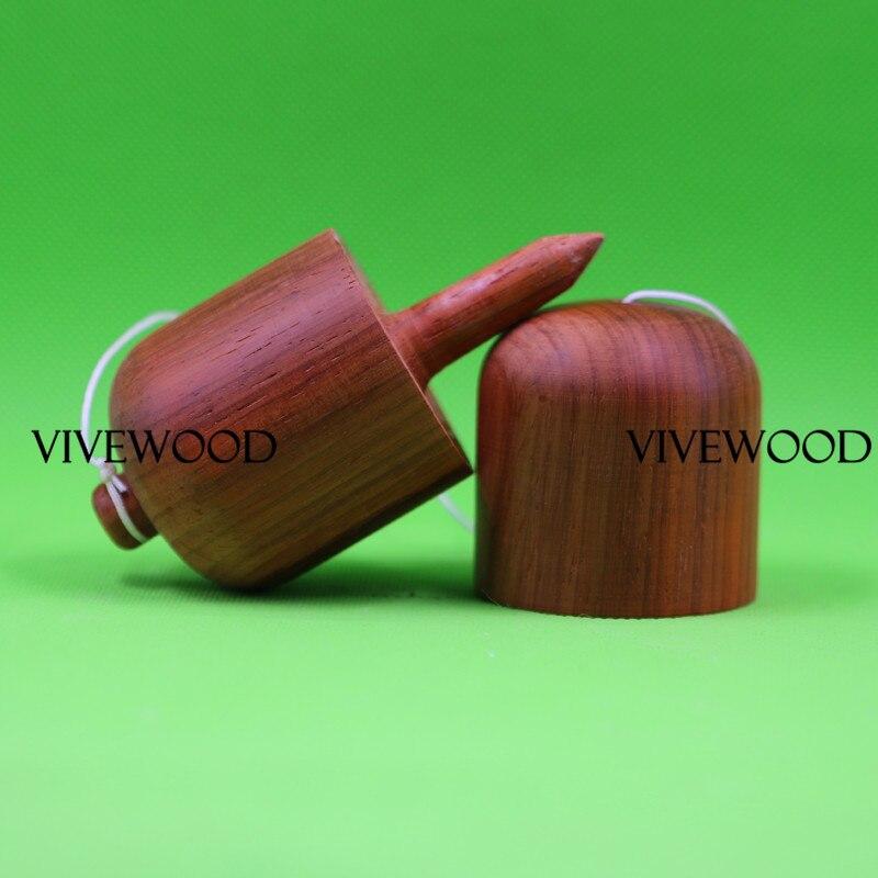 Kendama Pill made from natural padouk wood, Plain Padauk wood Kendama pill, Padouk kendama Pill Toys