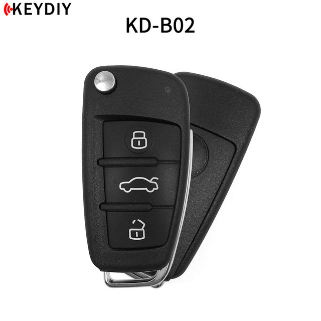 KEYDIY KD900 B Series Remote Control KD B02 Car Key for KD-X2 Key Programmer URG200 Machine For Audi