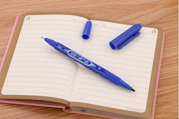 3 pcs Marker Pen Large Capacity Black Red Blue Plastic Oily Waterproof/_Office