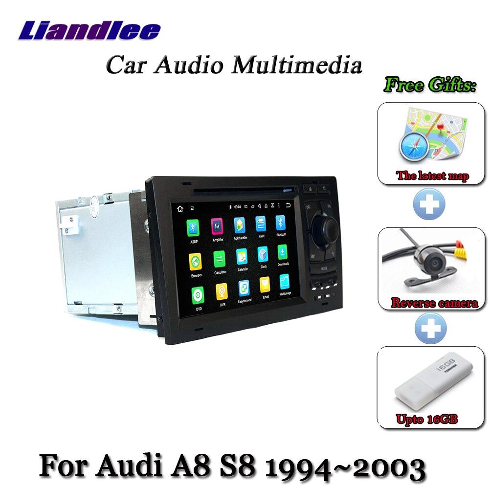 Cheap Liandlee Car Android 7.1 up For Audi A8 S8 D2 4D 1994~2003 Radio DVD TV Carplay Camera GPS Navi Navigation BT Screen Multimedia 2