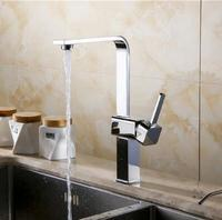 Free Shipping Square Kitchen Faucet Sinks Faucet Luxury Kitchen Mixer Kitchen Vessel Sink Faucet Water Tap