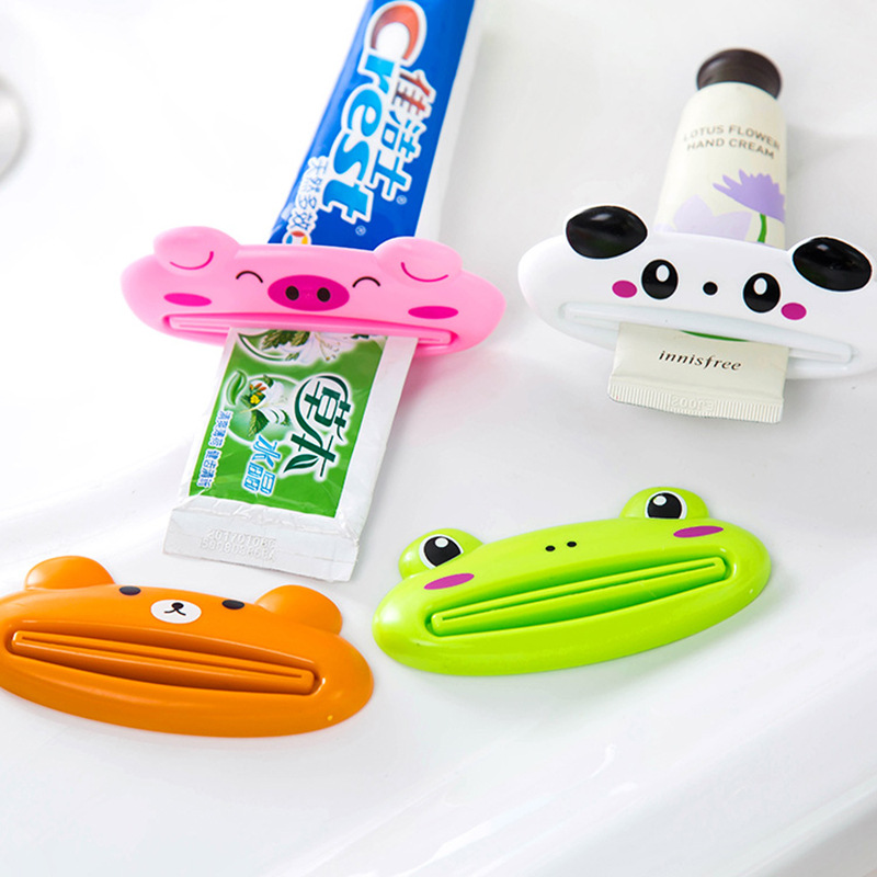 1pc Animal Easy Toothpaste Dispenser Plastic Tooth Paste Tube Squeezer Useful Toothpaste Rolling Holder For Home Bathroom