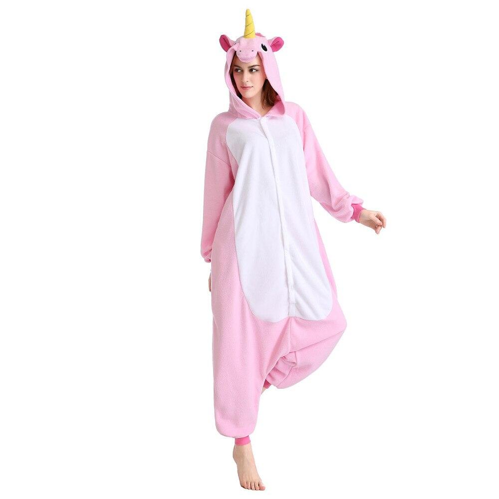 Newcosplay Anime Cosplay Costume Unisexe de Bande Dessinée Pyjamas Nouveau Rose Licorne Costume animal kigurmi costumiers