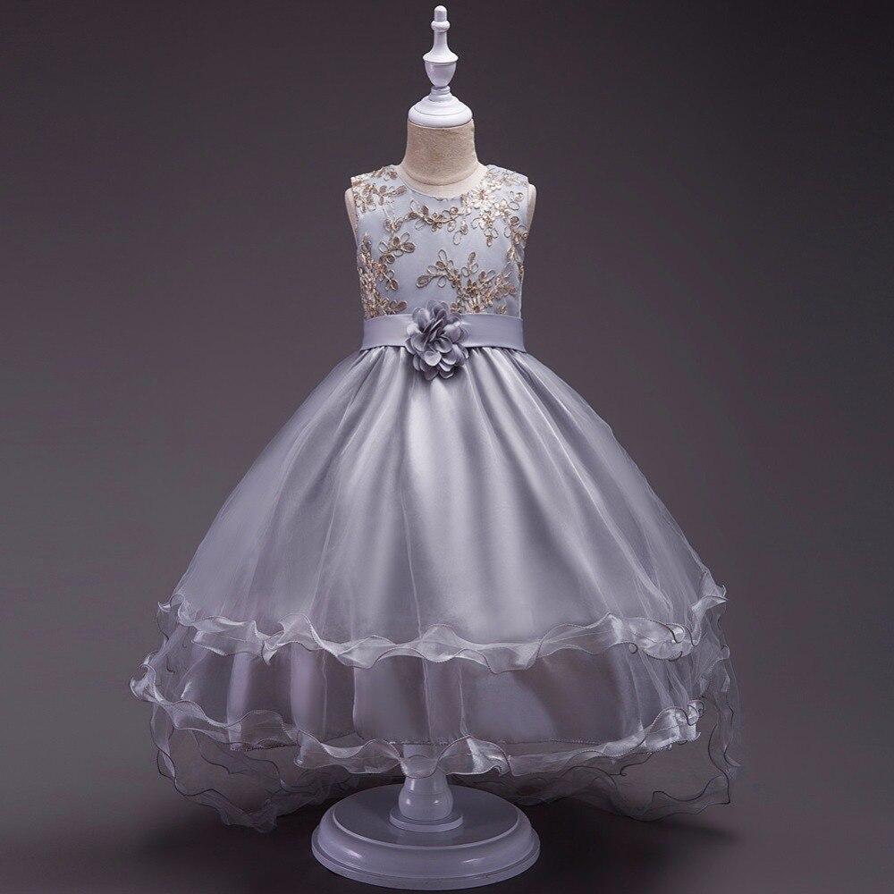 cb43236f39a CEEWHY asymétrique filles Robe de bal sainte Communion robes de noël Robe  de soirée formelle volants fleur Fille robes Robe Fille dans Fleur Fille  Robes de ...
