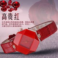 Высокое качество новинка 2016 5 видов цветов ювелирные часы Модные подарки стол Женщины Часы Jewel Gem Cut черный геометрия поверхности наручные Ча