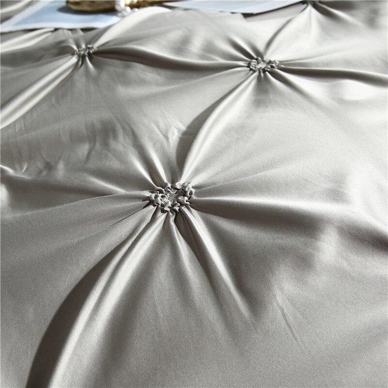 Image 4 - LOVINSUNSHINE Comforter Bedding Sets Double Duvet Cover Set King Size Luxury Silk Comforter Cover AC03#-in Bedding Sets from Home & Garden