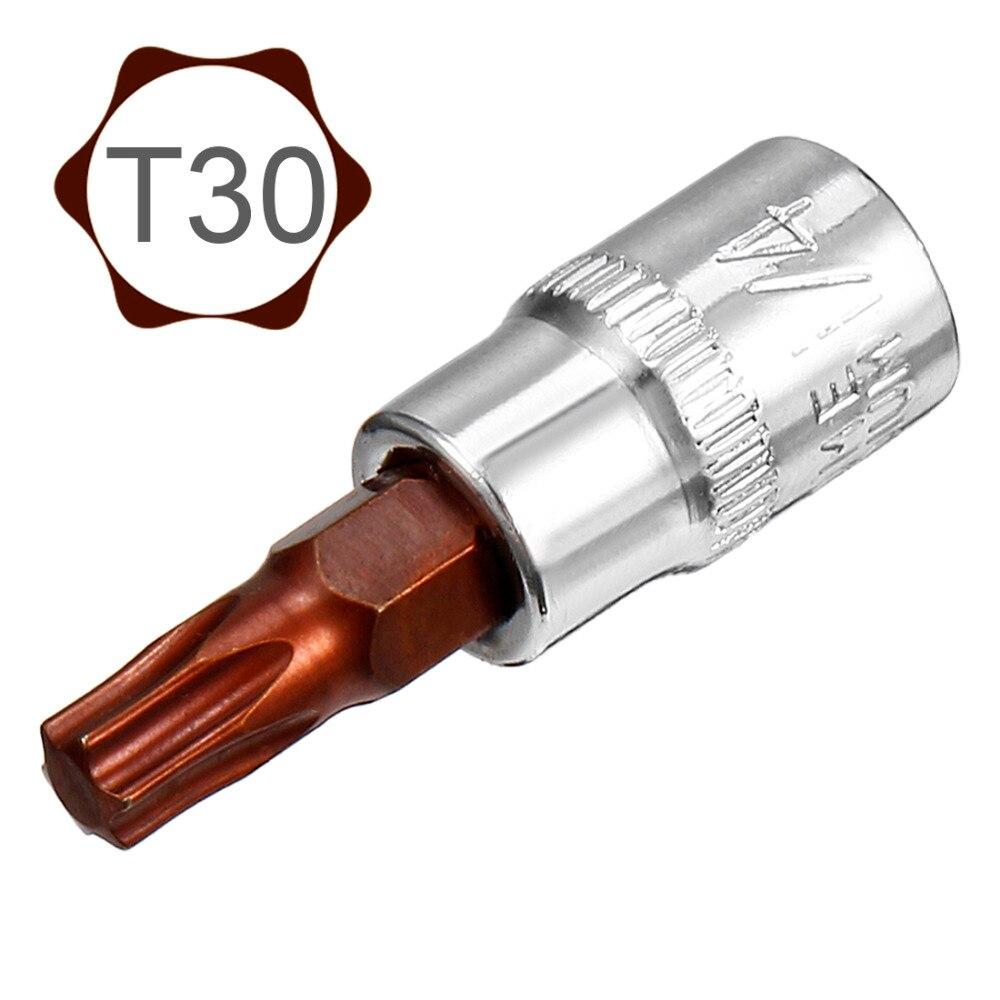UXCELL 2Pcs 1/4-Inch Drive T30 Torx Bit Socket, S2 Steel For Tightening Nuts Bolts