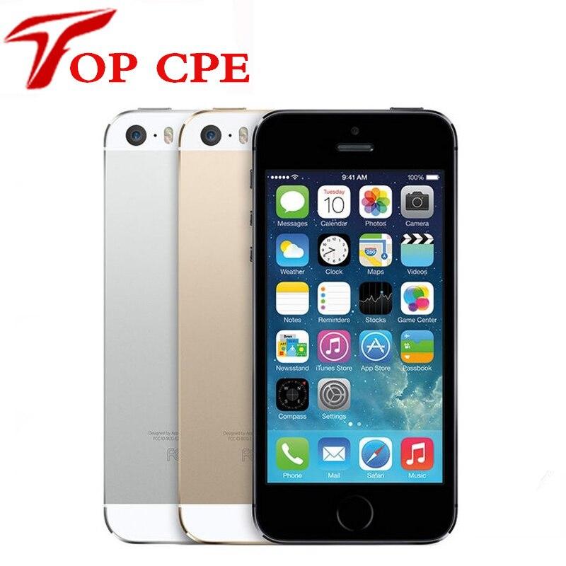 Цена за Factory unlocked оригинальный apple iphone 5s 16 gb/32 ГБ/64 ГБ rom 8mp touch id 1080 P wi fi gps 4.0 дюймов отпечатков пальцев ios используется телефон