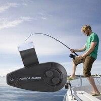App alarme de pesca bluetooth inteligente alarme de pesca clip-on eletrônico mordida de peixe som alarme led luz vara de pesca alerta sino