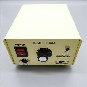 Image 2 - 45000 tr/min forte Marathon SDE SH37L M45 micromoteur pièce à main 100W 60000 tr/min ESK1000 boîte de commande électrique perceuse à ongles Kit de Machine