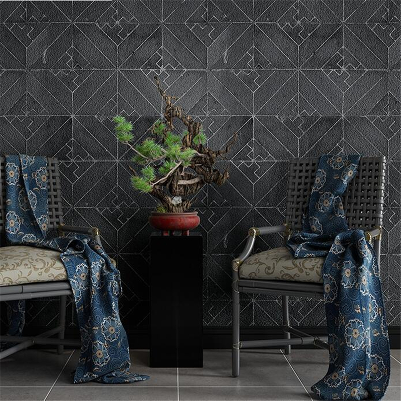 beibehangChinese wallpaper antique brick classical culture brick retro wallpaper pattern brick blue hotel restaurant wallpaper chinese retro personalized brick pattern wallpaper restaurant restaurants hotels dedicated wallpaper