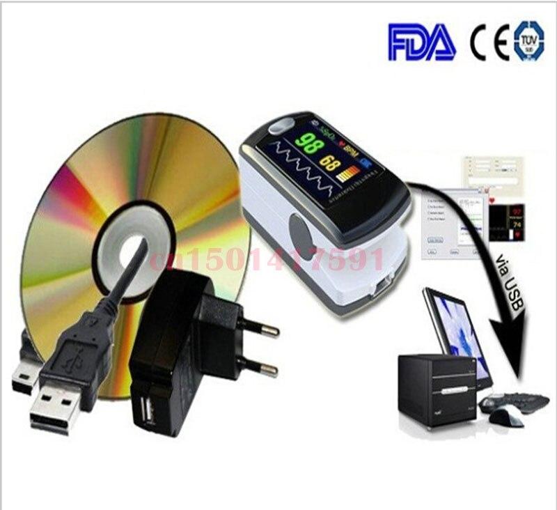 approved Blood Oxygen Oxymetry, + USB + sleep study Pulse oximeter CMS50E, CE and FDA oxygen rhma 02