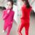 2017 Moda da Europa das Mulheres Ternos de Lazer Estudante Magro Duas Peças de Cintura Elástica Zíper Gola 2 Peça Definir Mulheres