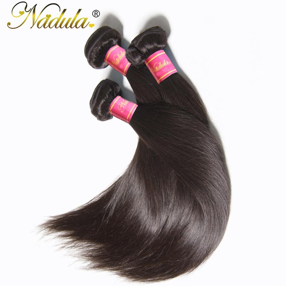 Nadula 3 Bundles Indian Hair Straight  s 3piece/Lot Indian Straight Hair Bundles Natural Color  Hair 3