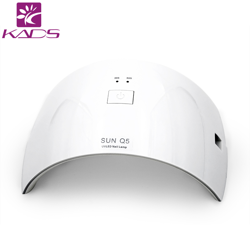 KADS Professional Nail Dryer UV Light White Color 24W LED UV Lamp Manicure Pedicure Machine Nails UV Gel Polish Nail Art Tools cnhids in 24w professional 9c uv led lamp of resurrection nail tools and portable package five 10 ml soaked gel nail polish