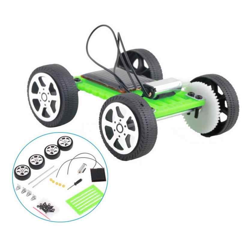 Hot 1 Pcs Diy Solar Power Mini Aangedreven Speelgoed Auto Kit Robot Moving Racer Kinderen Educatief Gadget Hobby Grappig Solar auto Set Gift