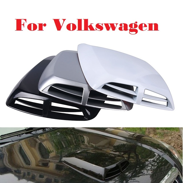 2017 New Car Stickers Scoop Turbo Bonnet Vent Cover Hood Decorate For Volkswagen Beetle Bora Eos Fox Golf Gti Plus R