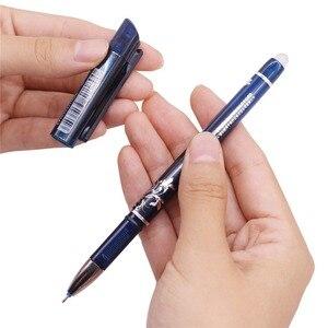 Image 3 - 144 stücke 0,5mm Löschbaren Stift Flüssigkeit Tinte Voll Nadelspitze Gel Stift Kristall Blau Schwarz Rot Tinte Blau refill Student schreibwaren Stifte
