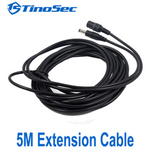 1pcs 5M/16.5ft 2.1/5.5mm DC 12V Power Extension Cable Connector Male To Female For CCTV Security Camera 12 Volt