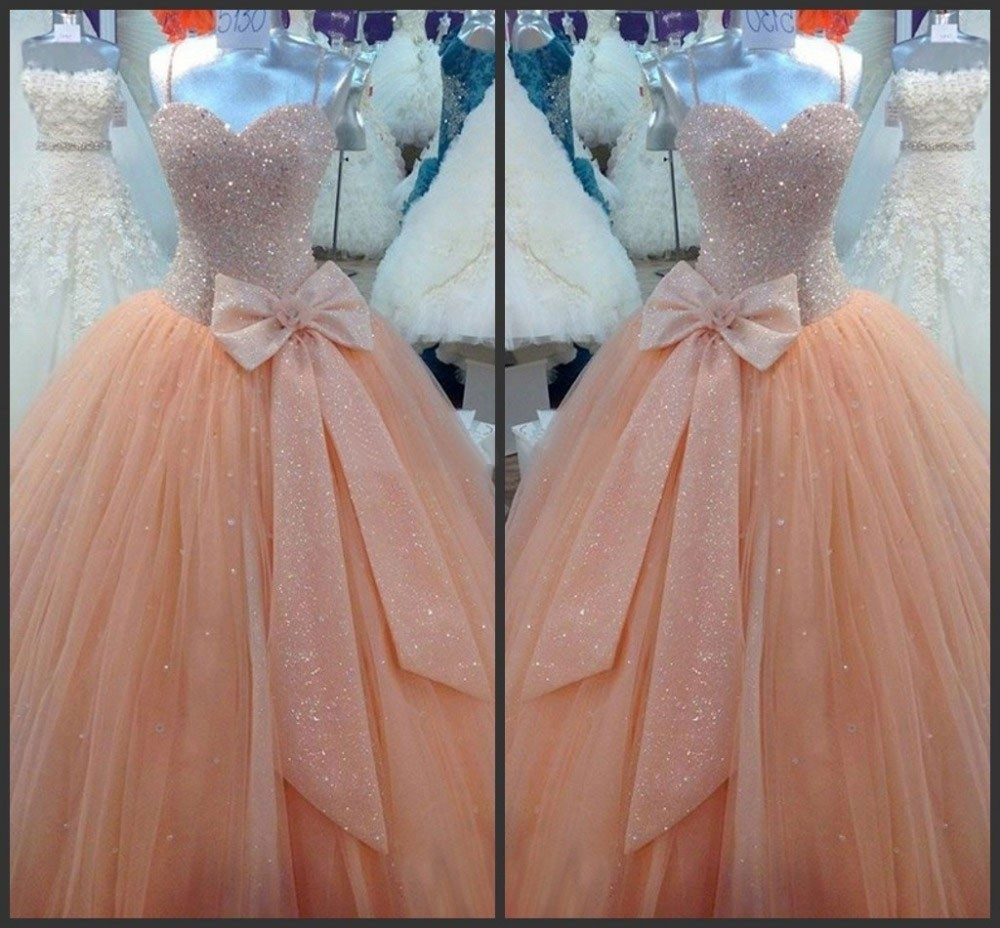 Luxury Quinceanera Dresses 2018 With Sweetheart Organza Bow Sashes Floor Length Dresses For 15 Years Plus