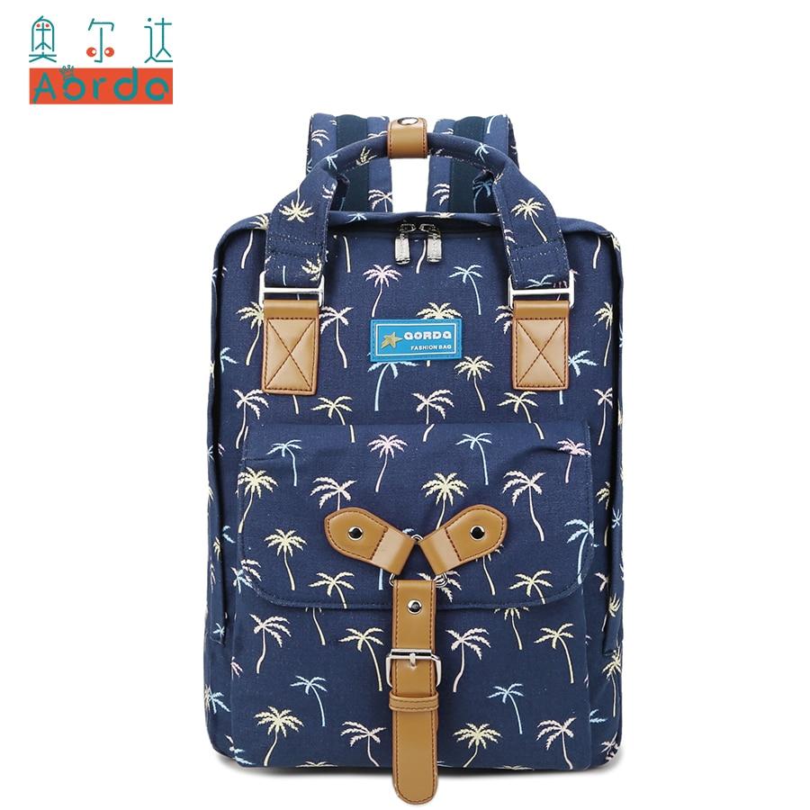 AORDA Japan Canvas KPOP Student Backpack Boys Girls Fashion BIGBANG Bags Women Backpack Rucksacks Mochila Satchel Laptop bag