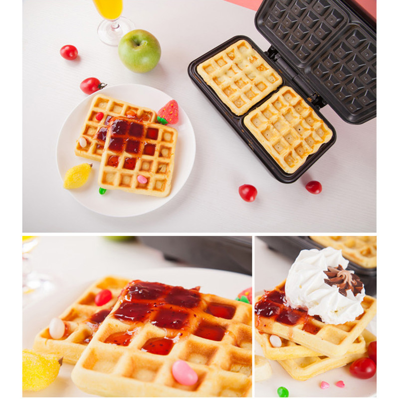 220V Multifunctional Electric Breakfast Waffle Maker Machine Non-stick Household Waffle Pancake Baker Plate Machine EU/AU/UK